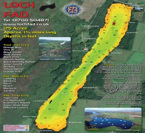 Loch Fad Depth Map